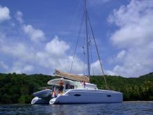 Fountaine Pajot Lipari 41 : At anchor